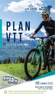 Plan VTT Bike Park Les Arcs-PV été 2020