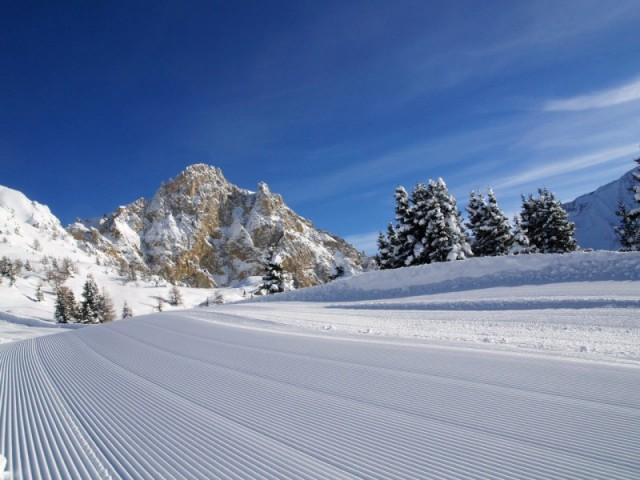 Auf dem Skigebiet