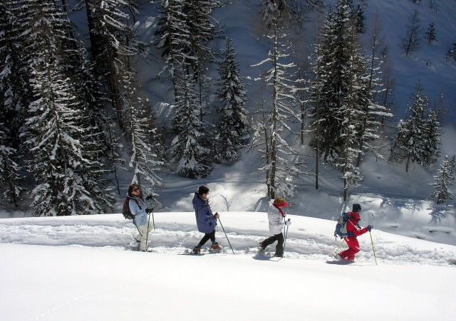 Routes & Snowshoe tours