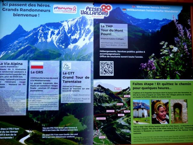 Grandes randonnées : via Alpina, GR5, GTT
