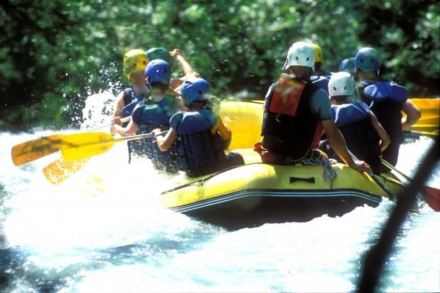 Sport d'eaux vives sur l'Isère