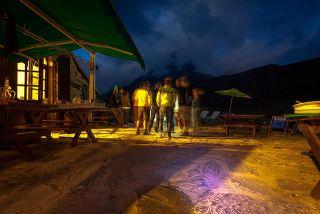 Refuge entre-le-lac : ciel de nuit